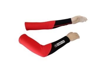 Manicotti ciclista DUAL rosso/nero DEKO